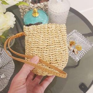 Vintage Mini Straw Purse